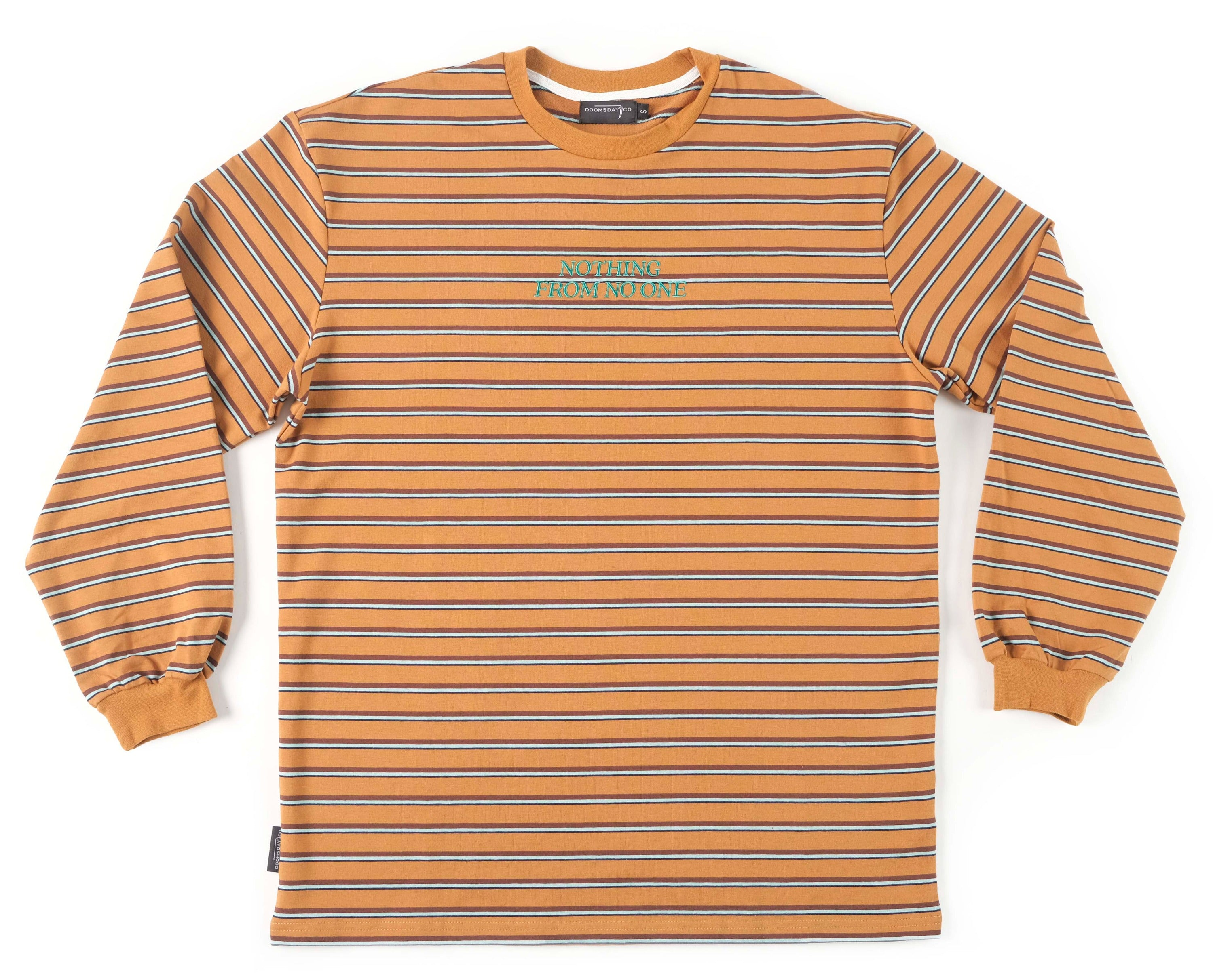 Rust Stripe Nothing From No One Long Sleeve