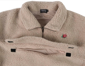 Vintage Rose ¼ Zip Sherpa Fleece