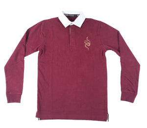 Snake Rugby Jersey - BURGUNDY