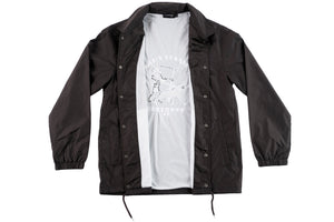 Tiger Embroidered Coach Jacket Coal
