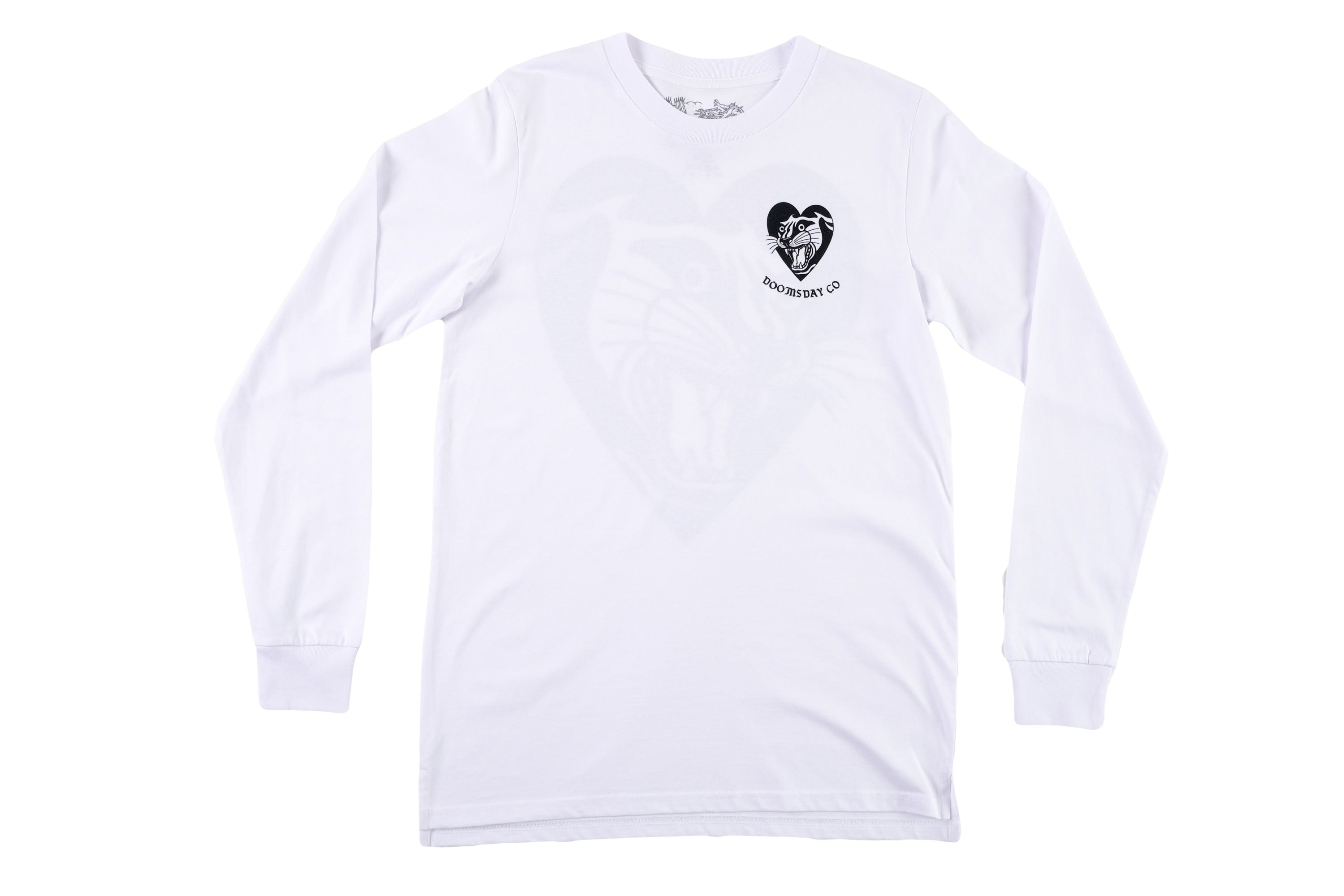 Panther Heart Longsleeve White