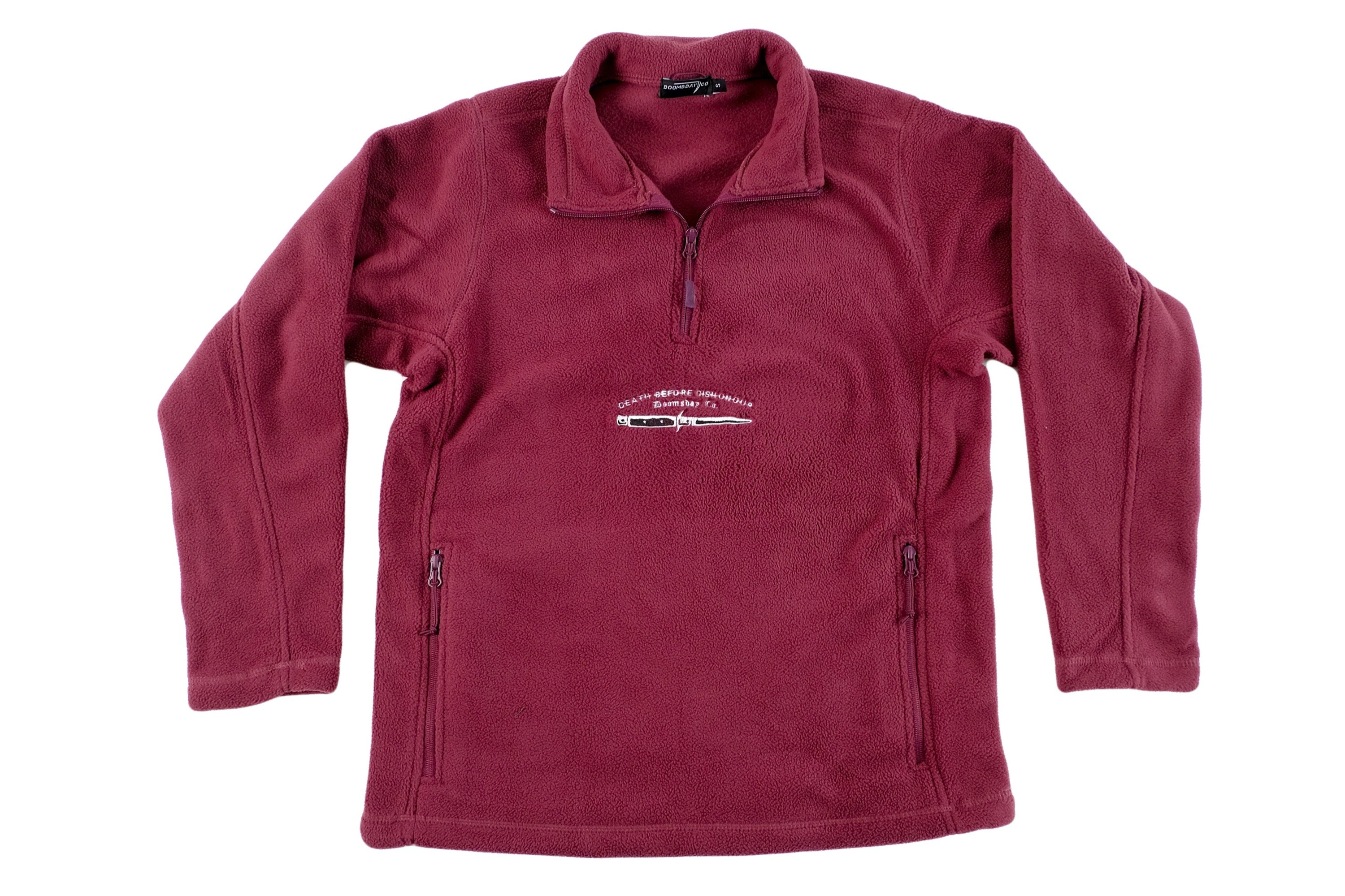 Burgundy Dishonour ¼ zip Fleece