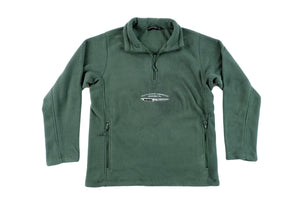 Bottle Green Dishonour ¼ zip Fleece