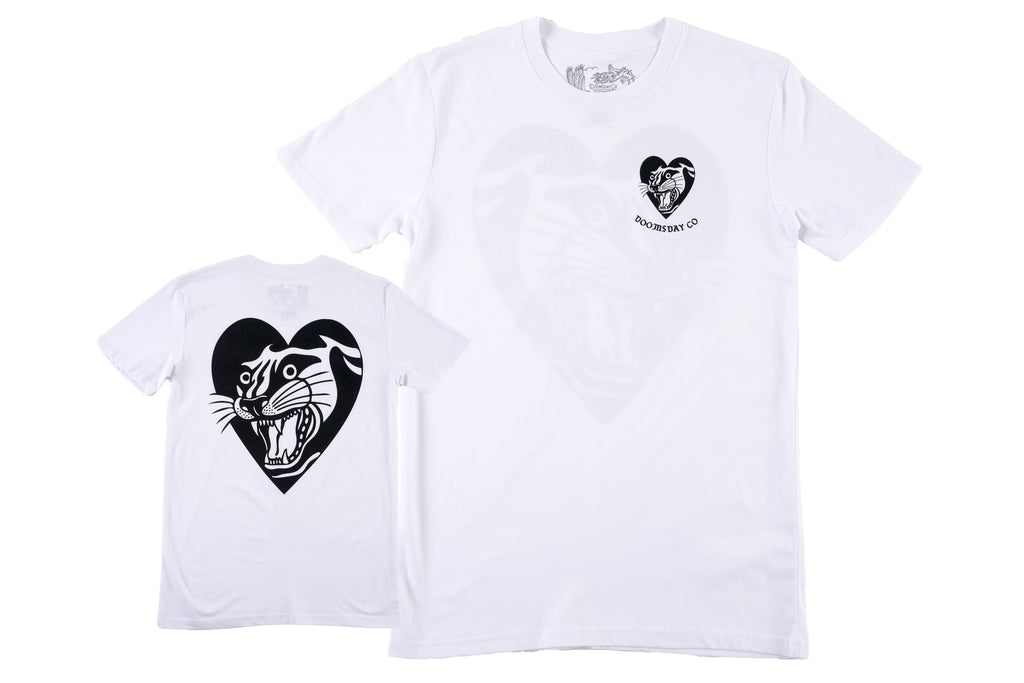 Panther Heart T-shirt White