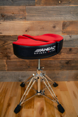AHEAD SPINAL G DRUM THRONE WITH 4 LEG BASE, RED