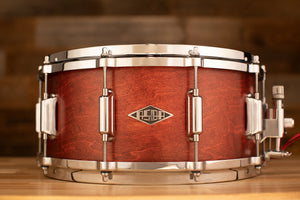 ASBA RIVE GAUCHE 14 X 6 MAPLE / POPLAR SNARE DRUM, LOU RED FINISH