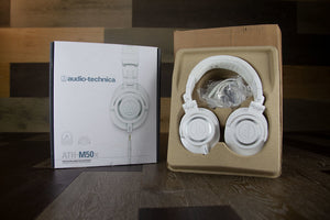 AUDIO TECHNICA ATH-M50XWH PROFESSIONAL MONITOR HEADPHONES (WHITE)