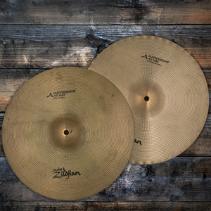 "ZILDJIAN 14"" AVEDIS A MASTERSOUND HI-HAT CYMBALS, REGULAR FINISH (PAIR) (PRE-LOVED)"