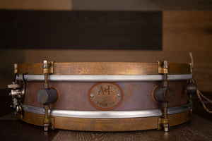 A&F 13 X 3 RUDE BOY RAW COPPER SNARE DRUM, FACTORY FITTED WITH INTERNAL SNARE