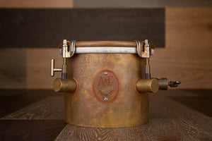 "A&F 6"" OLD HAVANA TIMBALITO (BRASS BONGO) WITH INTERNAL SNARE"