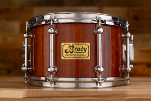 BRADY 12 X 7 JARRAH BLOCK SNARE DRUM, CIRCA 1990 - 92 (PRE-LOVED)