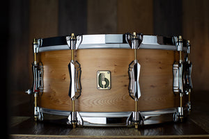 BRITISH DRUM COMPANY 14 X 6 ARCHER ENGLISH YEW SNARE DRUM