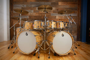 BRITISH DRUM COMPANY LEGEND SE SPECIAL EDITION SHELL BANK SPALTED BEECH - BUILD YOUR OWN KIT SPECIFICATION