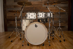 BRITISH DRUM COMPANY LEGEND SERIES 5 PIECE SHELL PACK, PICCADILLY WHITE - SPECIAL CONFIGURATION