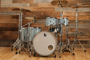 BRITISH DRUM COMPANY LEGEND SERIES 5 PIECE SHELL PACK, BIRCH SHELLS, SKYE BLUE EXO-TONE (PRE-LOVED)