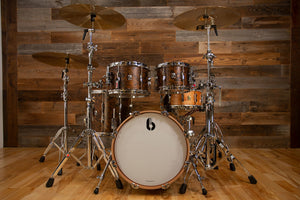 BRITISH DRUM COMPANY LOUNGE SERIES 4 PIECE DRUM KIT, WINDSOR DARK