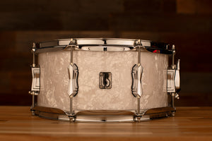 BRITISH DRUM COMPANY LOUNGE 14 X 6.5 SNARE DRUM, WINDERMERE PEARL