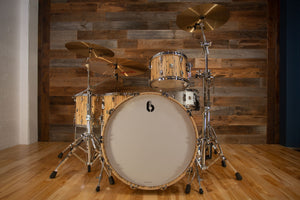 BRITISH DRUM COMPANY LEGEND SE SPECIAL EDITION 4 PIECE DRUM KIT, SPALTED BEECH