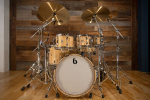 BRITISH DRUM COMPANY LEGEND SE SPECIAL EDITION 5 PIECE DRUM KIT, SPALTED BEECH
