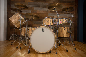 BRITISH DRUM COMPANY LEGEND SE SPECIAL EDITION 9 PIECE SPECIAL CONCEPT DRUM KIT, SPALTED BEECH