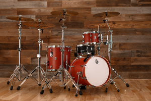 "BRITISH DRUM COMPANY LEGEND SERIES 3 PIECE SHELL PACK WITH CUSTOM 16"" BASS DRUM, BUCKINGHAM SCARLETT - SPECIAL CONFIGURATION"