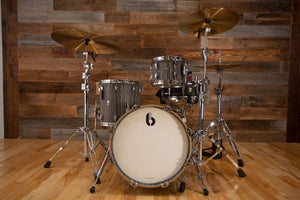 "BRITISH DRUM COMPANY LEGEND SERIES 3 PIECE 18"" BASS DRUM SHELL PACK, BIRCH SHELLS, CARNABY SLATE - SPECIAL CONFIGURATION"