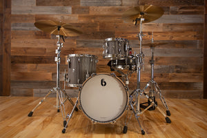 "BRITISH DRUM COMPANY LEGEND SERIES 3 PIECE SHELL PACK WITH CUSTOM 16"" BASS DRUM, BIRCH SHELLS, CARNABY SLATE - SPECIAL CONFIGURATION"