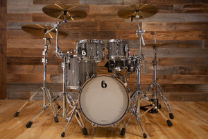 "BRITISH DRUM COMPANY LEGEND SERIES 4 PIECE SHELL PACK WITH CUSTOM 16"" BASS DRUM, BIRCH SHELLS, CARNABY SLATE - SPECIAL CONFIGURATION"
