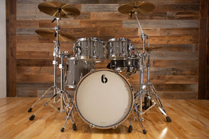 "BRITISH DRUM COMPANY LEGEND SERIES 4 PIECE SHELL PACK WITH 20"" BASS DRUM, BIRCH SHELLS, CARNABY SLATE - SPECIAL CONFIGURATION"
