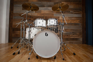 BRITISH DRUM COMPANY LEGEND SERIES 5 PIECE SHELL PACK, PICCADILLY WHITE