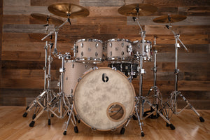 BRITISH DRUM COMPANY LEGEND SERIES 5 PIECE DRUM KIT, WHITECHAPEL, SPECIAL SIZES