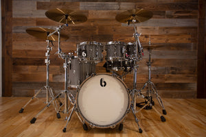 "BRITISH DRUM COMPANY LEGEND SERIES 5 PIECE SHELL PACK WITH 18"" BASS DRUM, BIRCH SHELLS, CARNABY SLATE - SPECIAL CONFIGURATION"