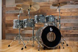 BRITISH DRUM COMPANY LEGEND SERIES 5 PIECE SHELL PACK, BIRCH SHELLS, CARNABY SLATE - SPECIAL N.Y. SESSION CONFIGURATION