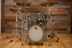 "BRITISH DRUM COMPANY LEGEND SERIES 5 PIECE SHELL PACK WITH 16"" BASS DRUM, BIRCH SHELLS, CARNABY SLATE - SPECIAL CONFIGURATION"