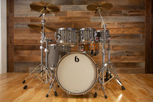 "BRITISH DRUM COMPANY LEGEND SERIES 5 PIECE SHELL PACK WITH 20"" BASS DRUM, BIRCH SHELLS, CARNABY SLATE - SPECIAL CONFIGURATION"