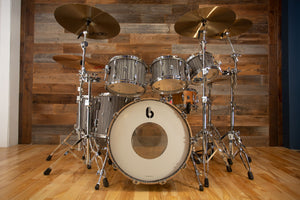 BRITISH DRUM COMPANY LEGEND SERIES 6 PIECE SHELL PACK, BIRCH SHELLS, CARNABY SLATE - SPECIAL CALIFORNIA STUDIO CONFIGURATION