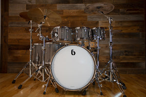 BRITISH DRUM COMPANY LEGEND SERIES 6 PIECE SHELL PACK, BIRCH SHELLS, CARNABY SLATE - SPECIAL CONFIGURATION