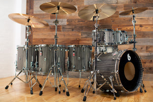BRITISH DRUM COMPANY LEGEND SERIES 6 PIECE SHELL PACK, BIRCH SHELLS, CARNABY SLATE - SPECIAL NASHVILLE TOUR CONFIGURATION