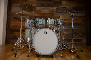 BRITISH DRUM COMPANY LEGEND SERIES 7 PIECE SHELL PACK, BIRCH SHELLS, SKYE BLUE - SPECIAL CONFIGURATION