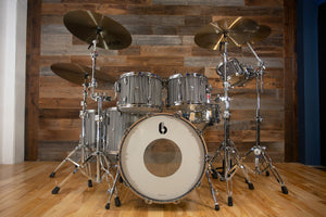 BRITISH DRUM COMPANY LEGEND SERIES 7 PIECE SHELL PACK, BIRCH SHELLS, CARNABY SLATE - SPECIAL HEAVY PROGRESSIVE CONFIGURATION
