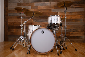 BRITISH DRUM COMPANY LOUNGE 3 PIECE DRUM KIT, WINDERMERE PEARL