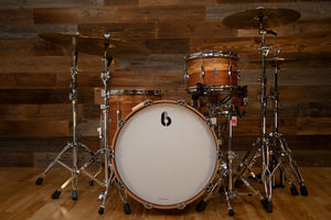 BRITISH DRUM COMPANY LOUNGE SERIES LIMITED EDITION 4 PIECE DRUM KIT, WILD ETIMOE No.20