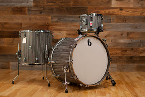 BRITISH DRUM COMPANY LEGEND SERIES 3 PIECE SHELL PACK, BIRCH SHELLS, CARNABY SLATE