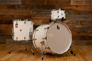 BRITISH DRUM COMPANY LEGEND SERIES 3 PIECE SHELL PACK, PICCADILLY WHITE