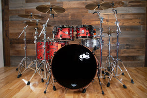 DS REBEL CUSTOM SHOP ALL BIRCH 5 PIECE DRUM KIT, EXOTIC RED PINE SATIN