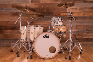 DW CLASSICS SERIES 4 PIECE DRUM KIT, VINTAGE WHITE MARINE PEARL, (PRE-LOVED)