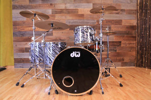 DW (DRUM WORKSHOP) COLLECTORS SERIES 4 PIECE DRUM KIT, TWISTED BLACK OYSTER (PRE-LOVED)