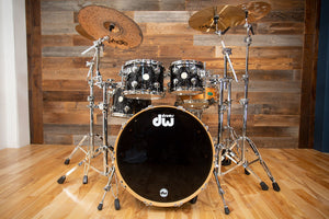 DW (DRUM WORKSHOP) COLLECTORS 4 PIECE DRUM KIT, BLACK VELVET (PRE-LOVED)