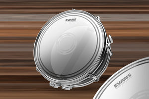 "EVANS EC1 REVERSE DOT SNARE DRUM HEAD (SIZES 13"" TO 14"")"