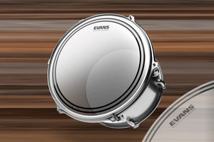 "EVANS EC2 FROSTED TOM / SNARE BATTER DRUM HEAD (SIZES 6"" TO 18"")"